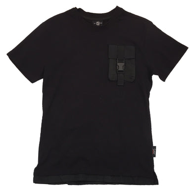 Switch Pocket Strap Tee (Black/Black) - Fashion Landmarks