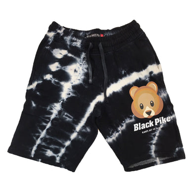 Black Pike Tie Dye Fleece Short (Black)