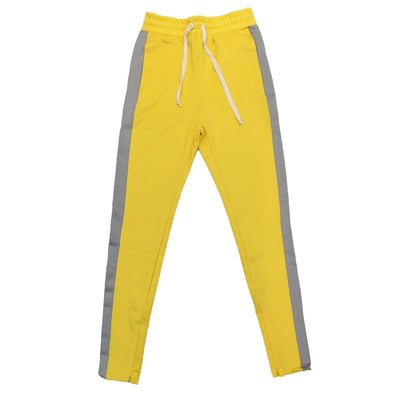 Huge Single Strip Track Pant (Yellow/Grey) - Fashion Landmarks