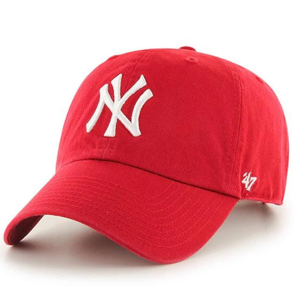 47 Brand CLEAN UP New York Yankees Red Dad Hat