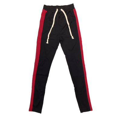 Huge Single Strip Track Pant (Black/Red)