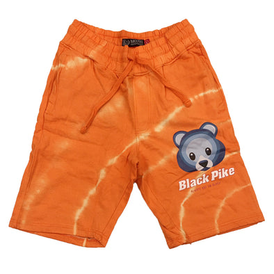 Black Pike Tie Dye Fleece Short (Orange)