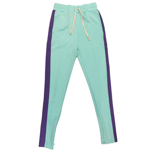 Huge Single Strip Track Pant (Mint/Lavender) - Fashion Landmarks