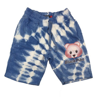 Black Pike Tie Dye Fleece Short (Blue)