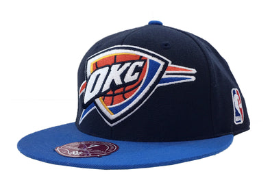 Mitchell & Ness Oklahoma City Thunder XI Logo 2 Tone Fitted Hat
