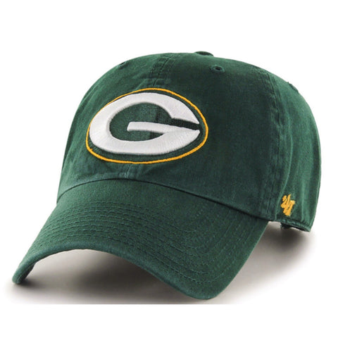 47 Brand Green Bay Packers Clean Up Dad Hat