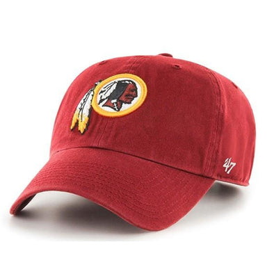 47 Brand Washington Redskins Clean Up Dad Hat - Fashion Landmarks