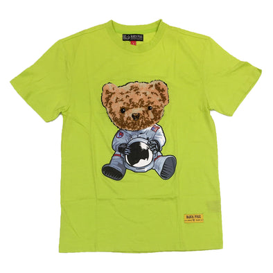 Black Pike Bear Chenille Patch Tee (Lime)