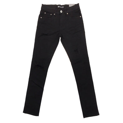 Royal Blue Ripped Skinny Jean (Jet Black) - Fashion Landmarks
