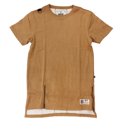 Wheat Suede Style Tee - Fashion Landmarks