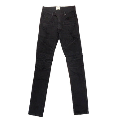 KDNK Black Biker Denim Jean