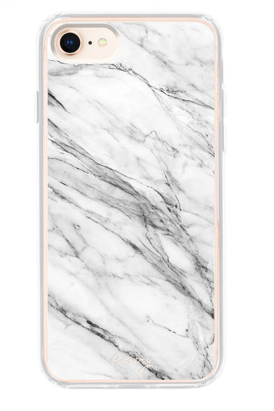 The Casery WHITE MARBLE IPHONE 8 CASE - Fashion Landmarks