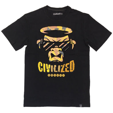Civilized Ape Face Embroidered Tee - Fashion Landmarks