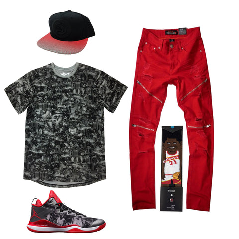 Air Jordan Super Fly 3 Slam Dunk Outfit