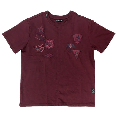 Burgundy Emboridered Design Tee - Fashion Landmarks