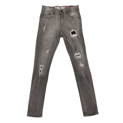Black Pike Ripped Jean (Grey)