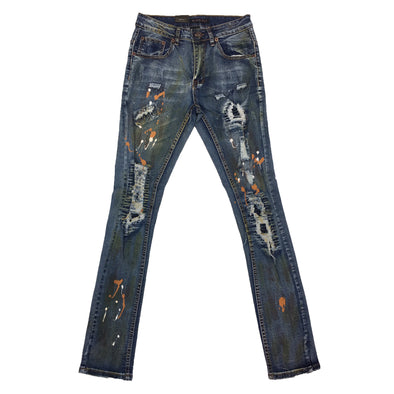 M.Soceity Painted Ripped Jean (Indigo)