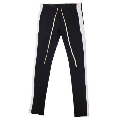 ROYAL BLUE SINGLE STRIP TRACK PANTS (Black/White)
