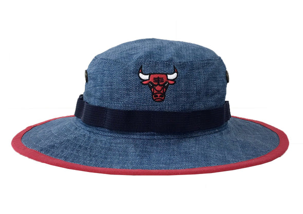 Mitchell & Ness Chicago Bulls Denim Printed Boonie Bucket Hat - Fashion Landmarks