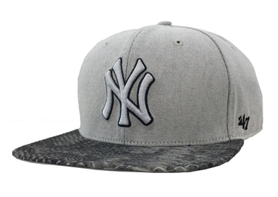 47 Brand New York Yankees Snake Skin Brim Strapback Hat - Fashion Landmarks