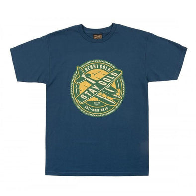 Benny Gold SEA PLANE HARBOR BLUE TEE - Fashion Landmarks