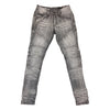 Copper Rivet Side Pocket Biker Jean (Grey)