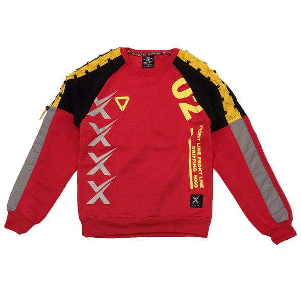 Switch Reflective Racing Crewneck (Red/Yellow) - Fashion Landmarks