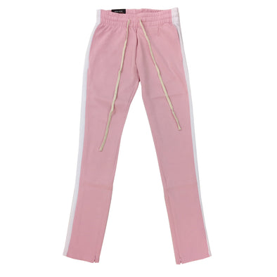 ROYAL BLUE SINGLE STRIP TRACK PANTS (Pink/White) - Fashion Landmarks