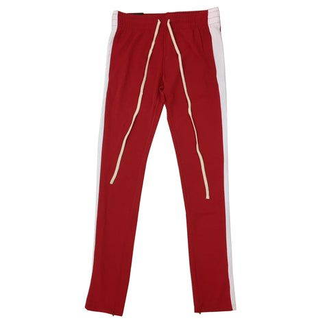 ROYAL BLUE SINGLE STRIP TRACK PANTS (Red/White)