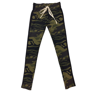 ROYAL BLUE SINGLE STRIP TRACK PANTS (Camo/Black)