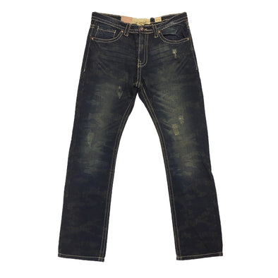 Smoke Rise Dark Indigo Straight Fit Denim Jean - Fashion Landmarks