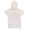 Huge Hustle Short Sleeve Hoodie (White) - Fashion Landmarks