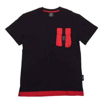 Switch Pocket Strap Tee (Black/Red)
