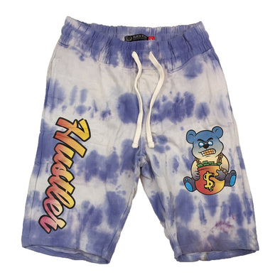 Black Pike Tie Dye Fleece Short (Purple)