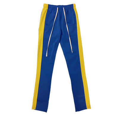 IMPERIOUS SINGLE STRIP TRACK PANT (Blue/Yellow) - Fashion Landmarks