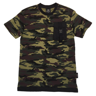 Switch Pocket Strap Tee (Wood Camo/Black)