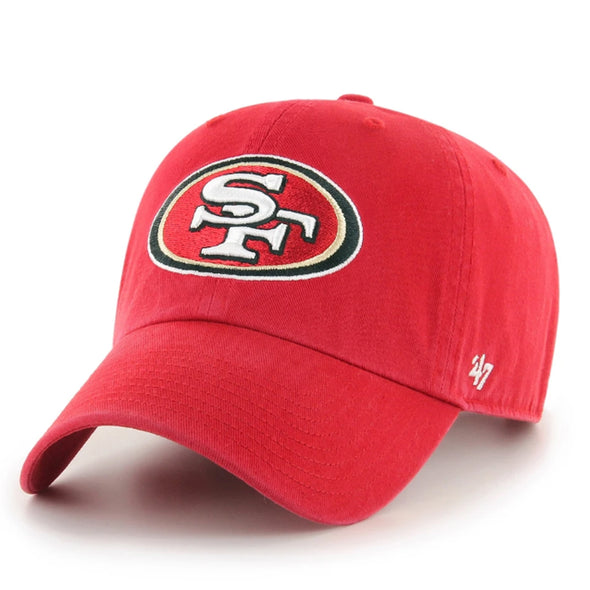 47 Brand San Francisco 49ers Clean Up Red Dad Hat