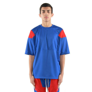EPTM ENGINEERED COLOR BLOCK TEE (Blue/Red)