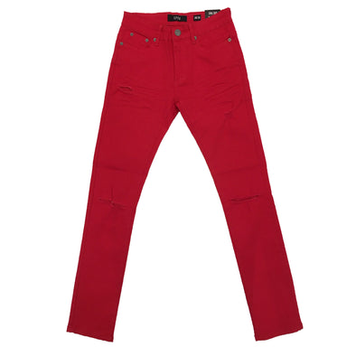 Spark Red Ripped Jean