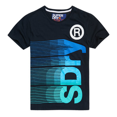 SUPERDRY SDRY VERTICAL TEE (ECLIPSE NAVY)