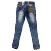 Copper Rivet Lime Stripe Jean (Medium Sand Blue) - Fashion Landmarks