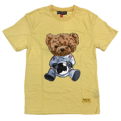 Black Pike Bear Chenille Patch Tee (Yellow)