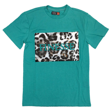 Huge Finesse Embossed Tee (Turquoise)