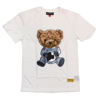 Black Pike Bear Chenille Patch Tee (White)