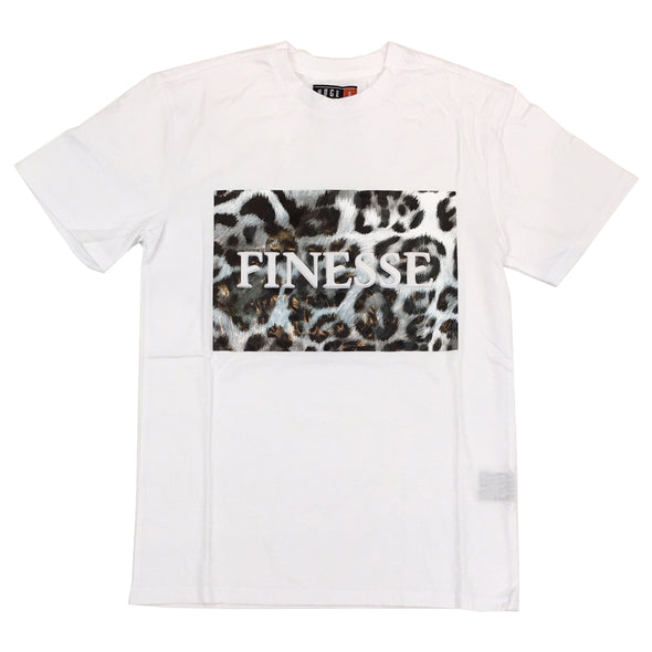 Huge Finesse Embossed Tee (White)