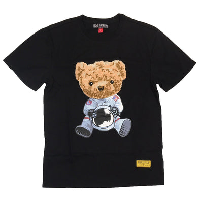Black Pike Bear Chenille Patch Tee (Black)
