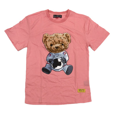 Black Pike Bear Chenille Patch Tee (Pink)