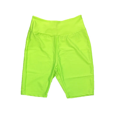 Red Fox Women's Biker Short (Neon Green) - Fashion Landmarks