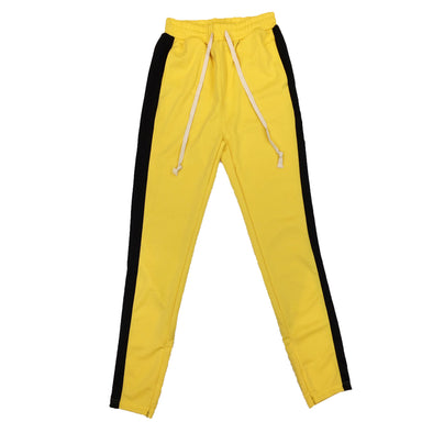 Huge Single Strip Track Pant (Yellow/Black)