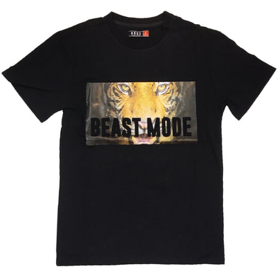 Huge Beast Mode Embossed Tee (Black)